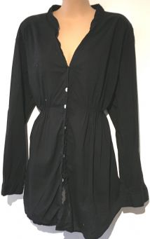 M2B MOTHERCARE BLACK COTTON MATERNITY LONG SHIRT TOP SIZE 20